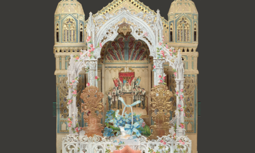 Glanzbild mit jüdischem Motiv.