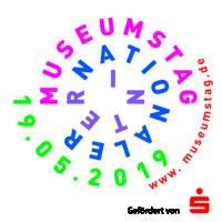 Logo des Internationalen Museumstags 2019. Das Jüdische Museum Franken in Fürth ist mit freiem Eintritt und einem Vortrag dabei.