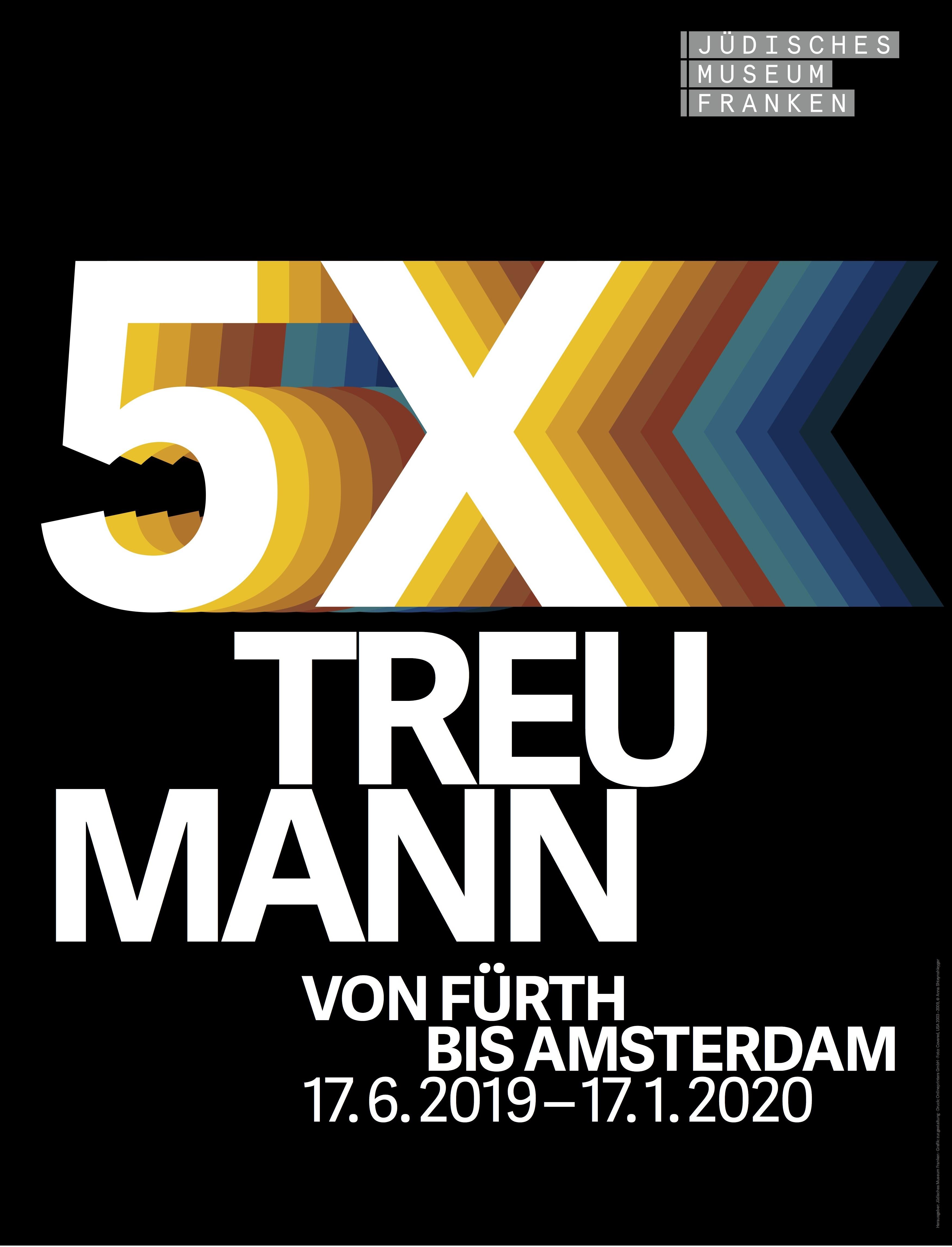 """Plakatmotiv der Wechselausstellung """"5x Treumann"""" im Jüdischen Museum Franken in Fürth vom 17.7.2019-19.1.2020."""