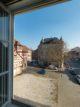 Blick auf die Neubaufläche des Jüdischen Museums Franken in Fürth.