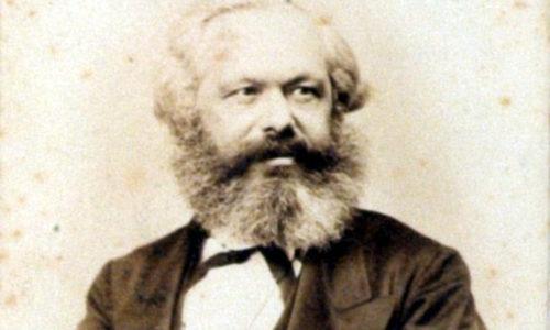 Portrait von Karl Marx.
