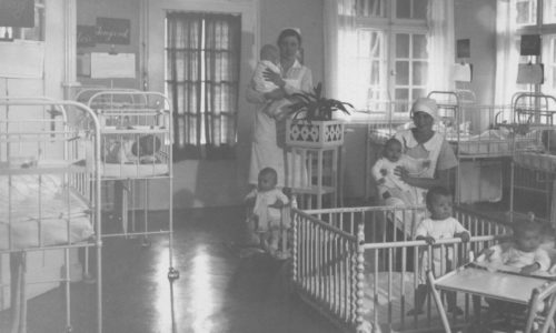 Säuglingszimmer in der Krautheimer Krippe.