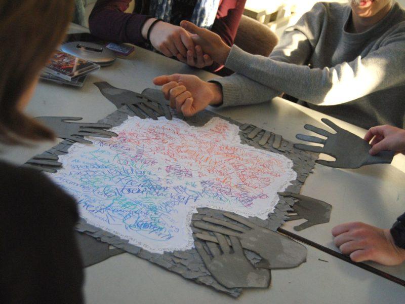 Schülerausstellung im Jüdischen Museum in Fürth.
