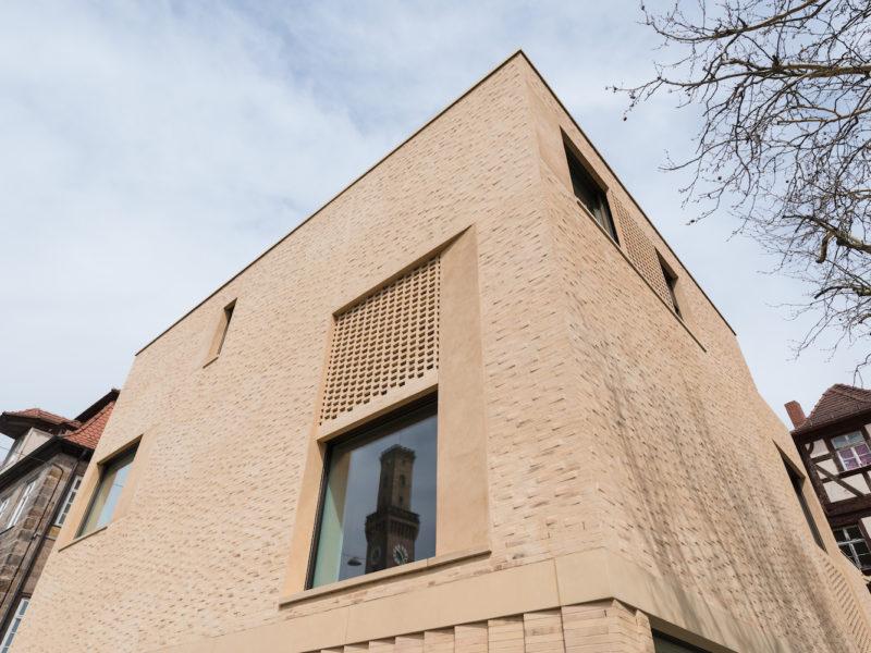 Außenansicht des Neubaus des Jüdischen Museums Franken in Fürth.