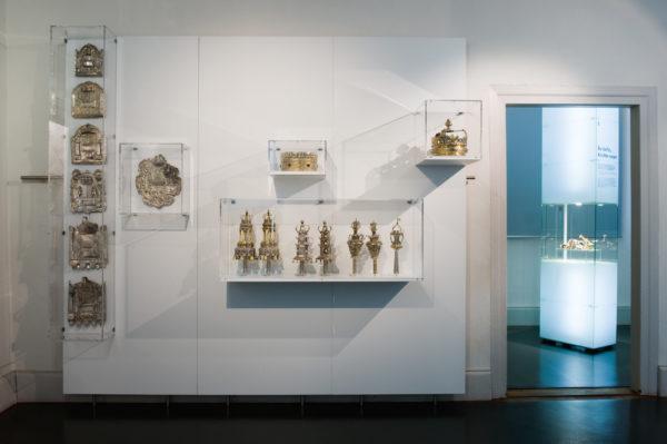 """Raumaufnahmen in der Ausstellung """"Jüdisch Leben"""""""