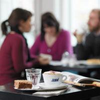 Café im Jüdischen Museum in Fürth.