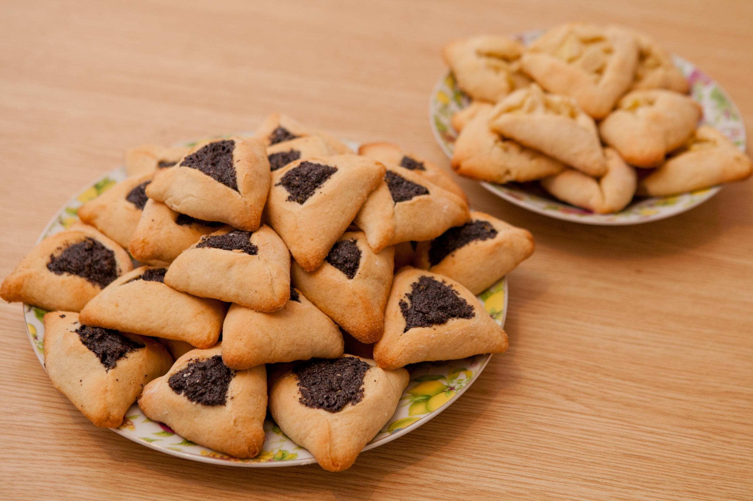 Hamantaschen, das traditionelle Gebäck zum jüdischen Fest Purim.